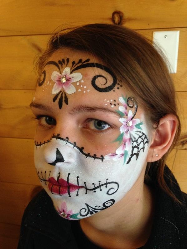 Partial Flower Skull
